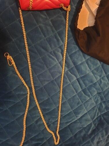 Goudkleur Veel maat Metalen accessoires voor handtassen Sac Bandouliere Groothandel tasaccessoires Riem voor tas Riem Metalen kettingen photo review
