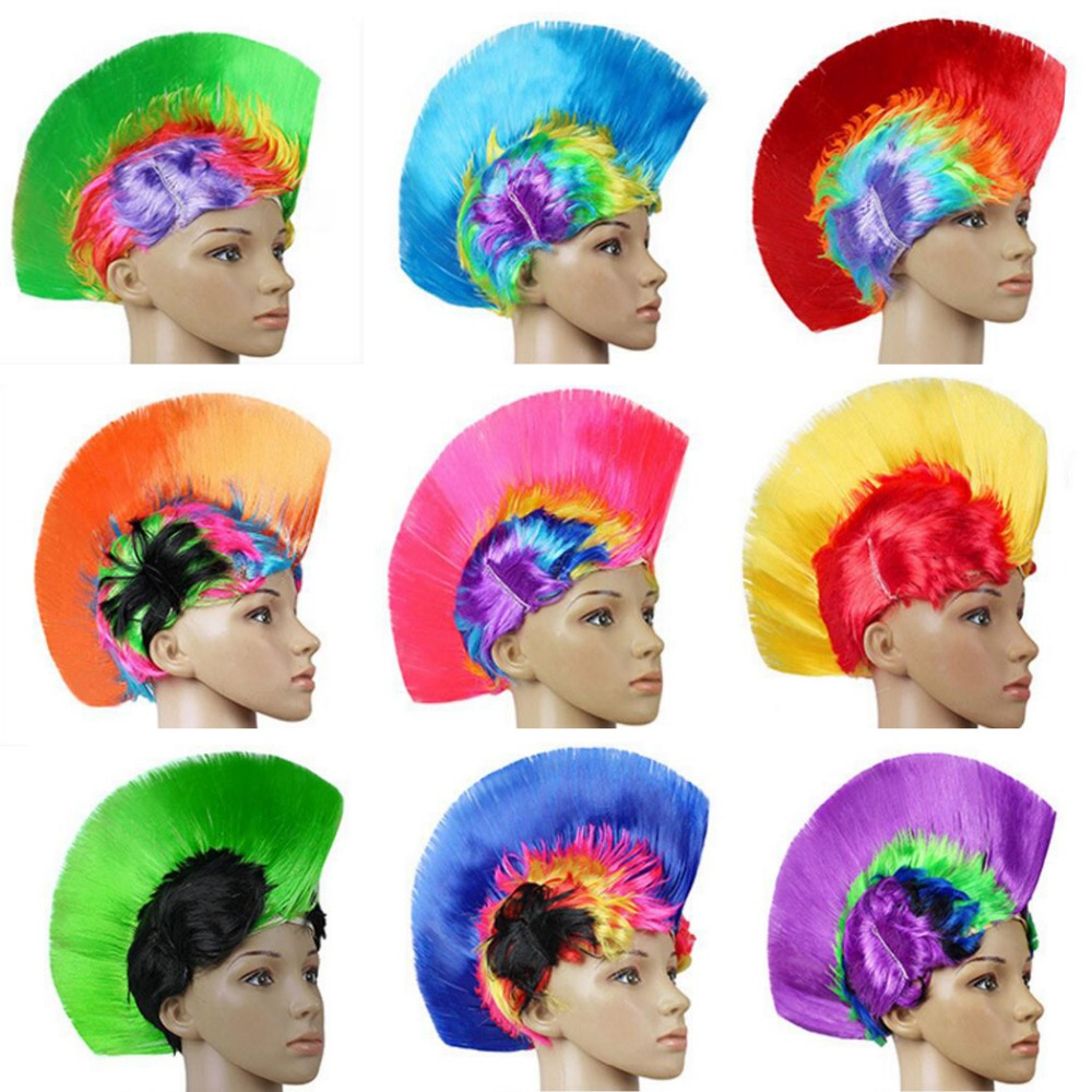Funny Party Headgear Explosive Head Wig Dance Bar Wedding Party Dress Performance Props Wig Funny Fluffy Funny Clown Wig Caps-in Party Hats from Home & Garden    1