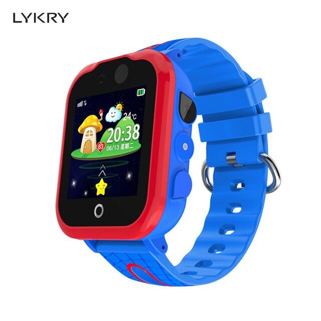 LYKRY New Smart Watch Children LBS Kids SmartWatch Baby Watch SOS Call Location Anti Lost Temperature Monitor Waterproof + Box