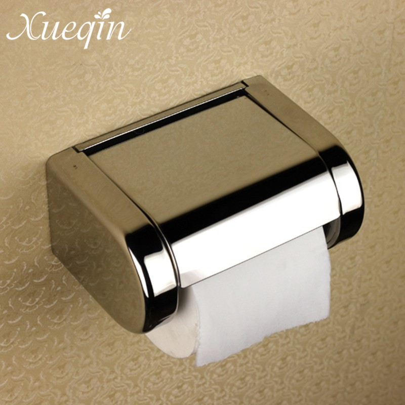 Toilet Tissue Roll Box  Polished Chrome Stainless Steel Wall Mounted Bathroom Paper Holder Roll Tissue Paper Holder stainless steel toilet tissue roll box wall mounted bathroom paper holder sturdy practical and user friendly