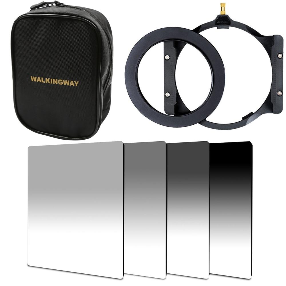 WalkingWay 150 100mm camera square filter set kit ND Neutral Density ND2 ND4 ND8 ND16 filter