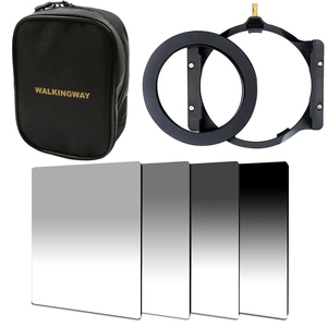 WalkingWay 150*100mm camera square filter set kit ND Neutral Density ND2 ND4 ND8 ND16 filter holder adapter ring for Cokin Zomei(China)