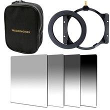 WalkingWay, kit de filtres carré pour caméra de 150*100mm, densité neutre, ND2 ND4, anneau de support de filtre ND16 pour Cokin Zomei