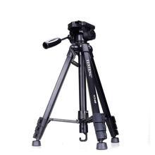 Yunteng 668 Tripé De Alumínio Profissional Acessórios Da Câmera Stand com Pan Cabeça Para SLR DSLR Câmera Digital