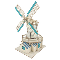 Dutch windmill scale model kit building model 3D diy toy for children adult maquetas para armar adultos hobby modellismo