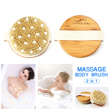 Anti Cellulite Slimming Massager Body Massage Brush Weight Loss Bath Shower Natural Boar Bristles Improves Lymphatic Function anti cellulite slimming massager body massage brush weight loss bath shower natural boar bristles improves lymphatic function
