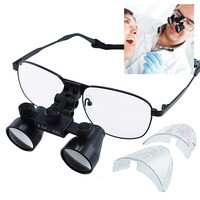 2.5x Dental Loupes +420mm Working Distance Galilean Style Titanium Frame Surgical Medical Binocular 100mm Field of View