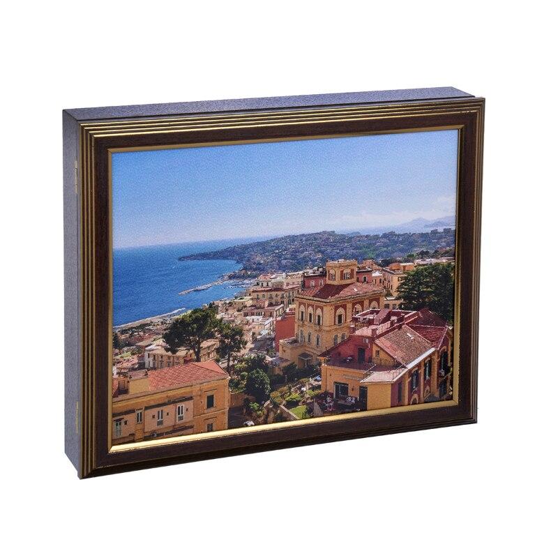 La FEMME de MÉNAGE 31x26x5 est une boîte de coffre de stockage boîte à clés sacs bijoux en métal livraison gratuite remise qualité supérieure maison 510-133