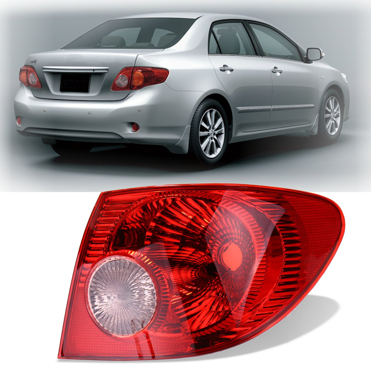 Tail Light Brake Lamps Outer Right Side Left Side For Toyota Corolla  2005 2006 2007 2008 free shipping for skoda octavia sedan a5 2005 2006 2007 2008 right side rear lamp tail light
