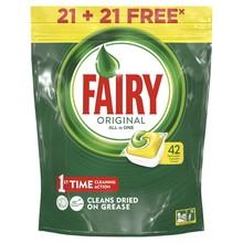 Капсулы для посудомоечной машины Fairy Original All In One(21+21 штука
