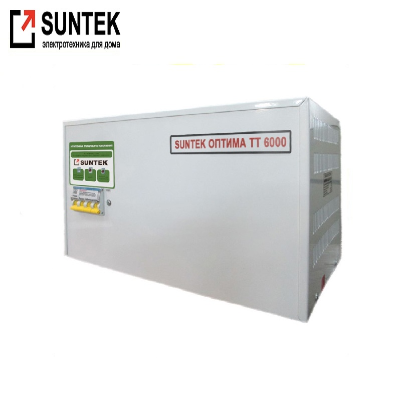Voltage stabilizer thyristor SUNTEK Optima TT 6000 VA AC Stabilizer Power stab Stabilizer with thyristor amplifier Constant volt цена