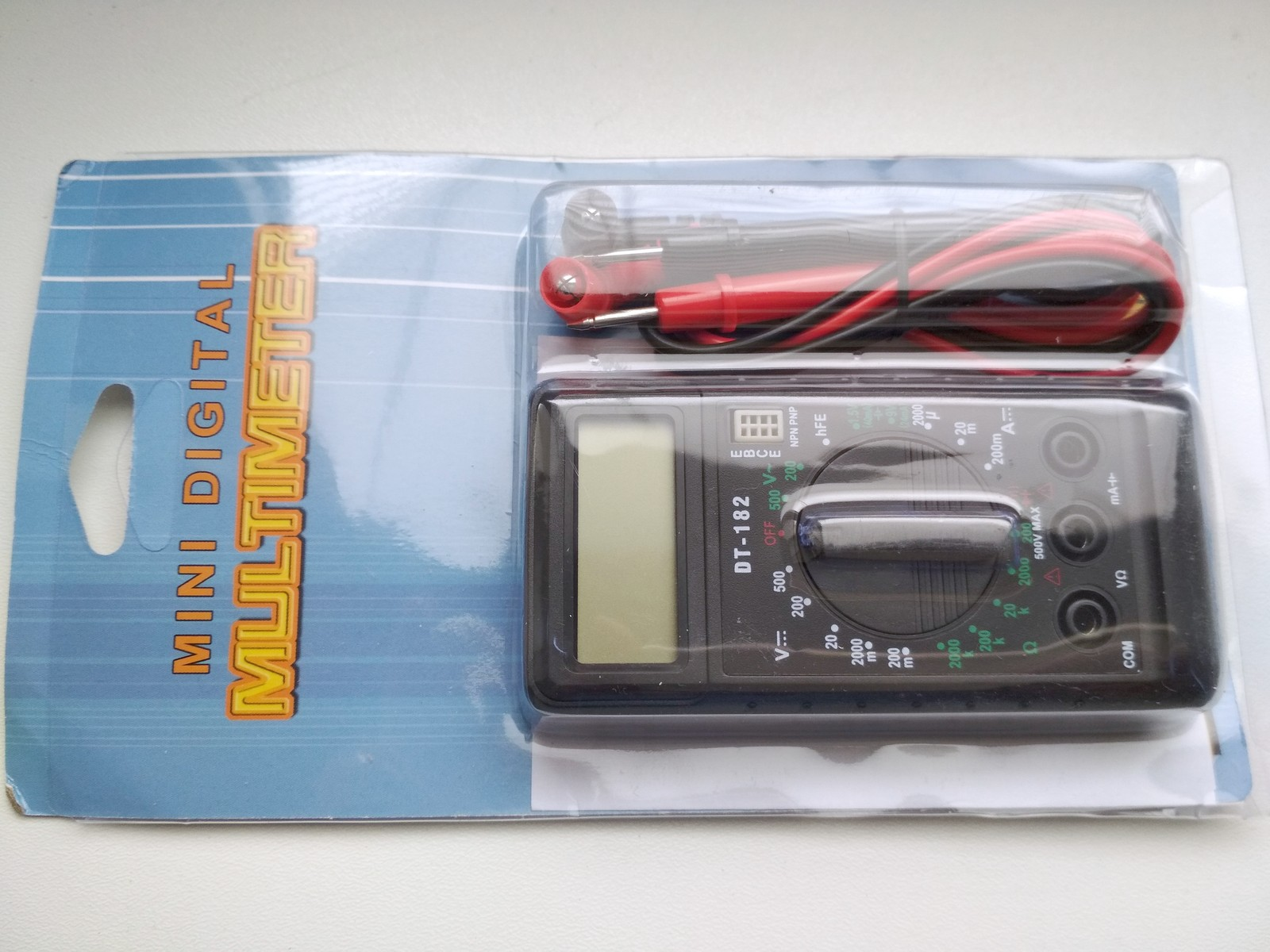 DT-182 Digital Mini Multimeter DC/AC Voltage Current Meter Handheld Pocket Voltmeter Ammeter Diode Triode Tester Multitester