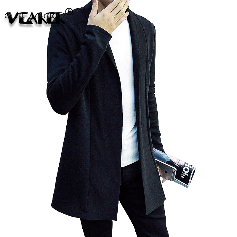 2020 New Men's Sweater Cardigans Male Slim Fit Sweatercoat Korean Style Long Sleeve Cardigan Balck Sweaters Casual Knitted Tops