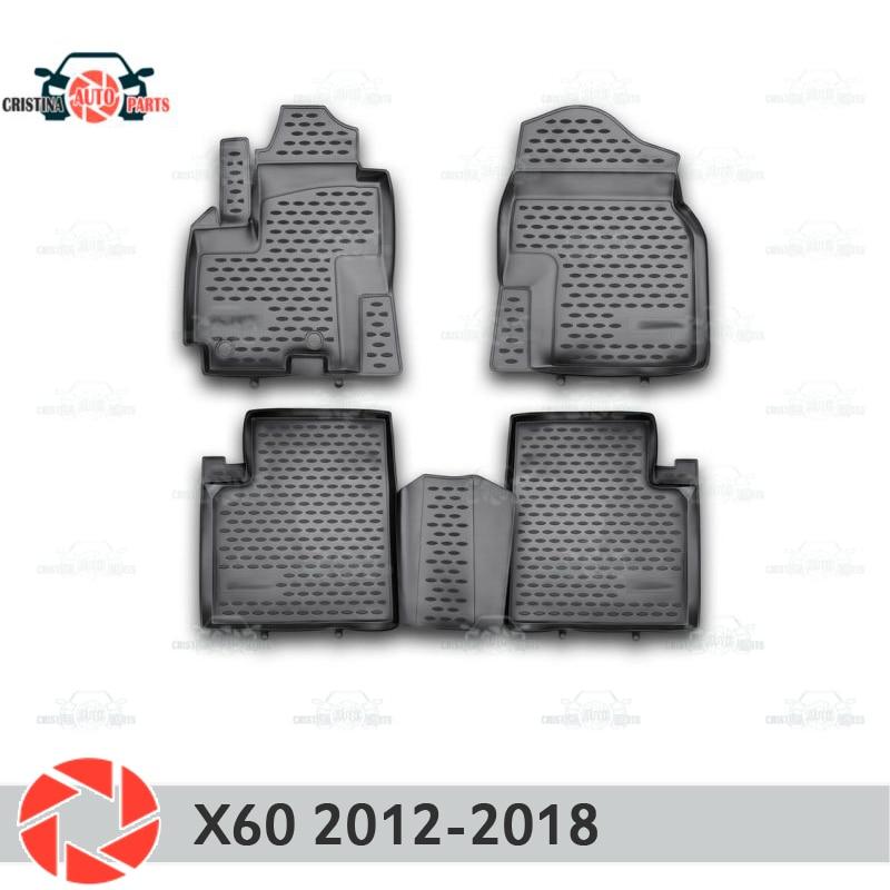 Коврики для Lifan X60 2012-2018, Нескользящие полиуретановые грязеотталкивающие аксессуары для салона автомобиля