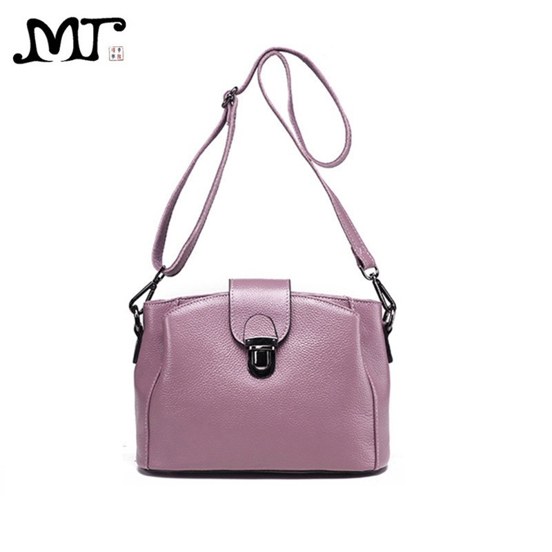 MJ Brand Design Women Genuine Leather Bags Fashion Real Cowhide Leather Shoulder Bag Lady Small Cross Body Bucket Messenger Bag genuine leather women s shoulder bag fashion patchwork plaid women cross body bags colorful tote lady messenger bag