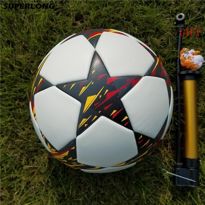 Alta qualidade tamanho Oficial 5 bola De Futebol Da Liga Dos Campeões Da competição  Profissional trem durável perfeita bola de futebol Futbol em Futebol de ... b9e4e24b67bf7