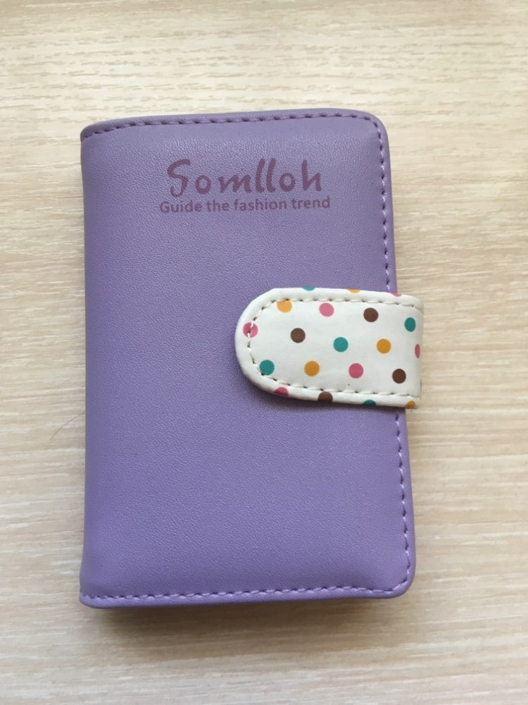 20 card slot business leather card holders women candy color credit card id holder wallet place bank card case pocket cardholder photo review