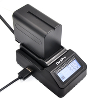 DuraPro Ultra Fast Charger 3X Faster And 1pcs Battery For Sony NP F970 NP F960 F960