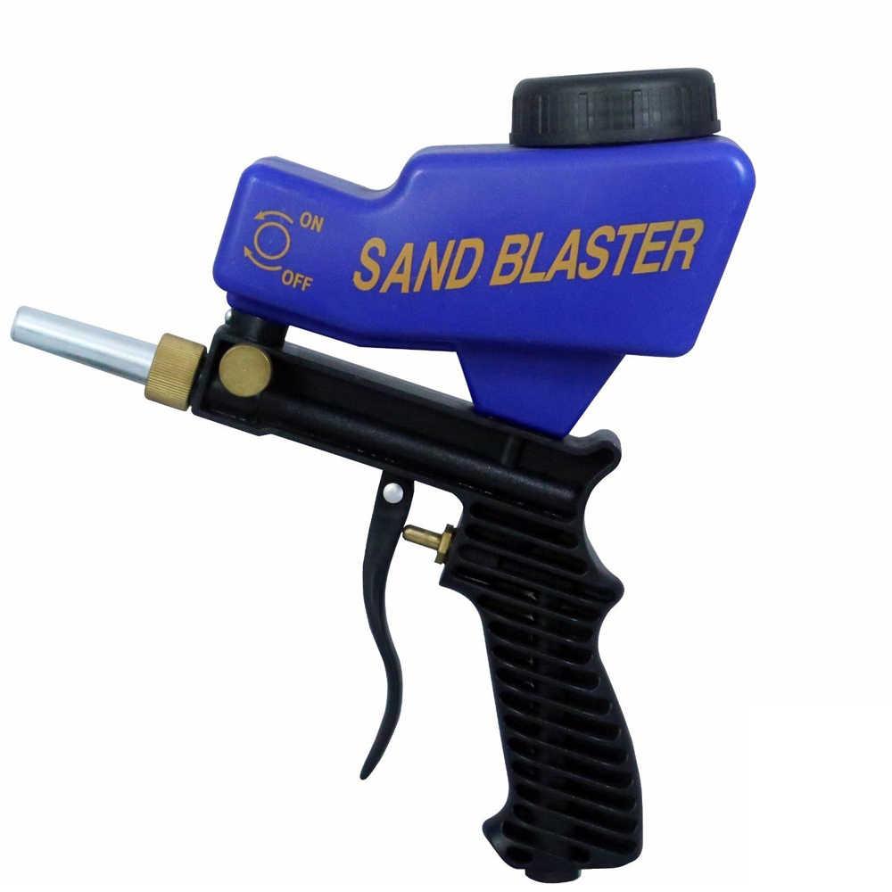 DIY de chorro de arena de óxido de limpieza dispositivo máquina de chorro de arena de la gravedad chorro de arena pistola de chorro de arena