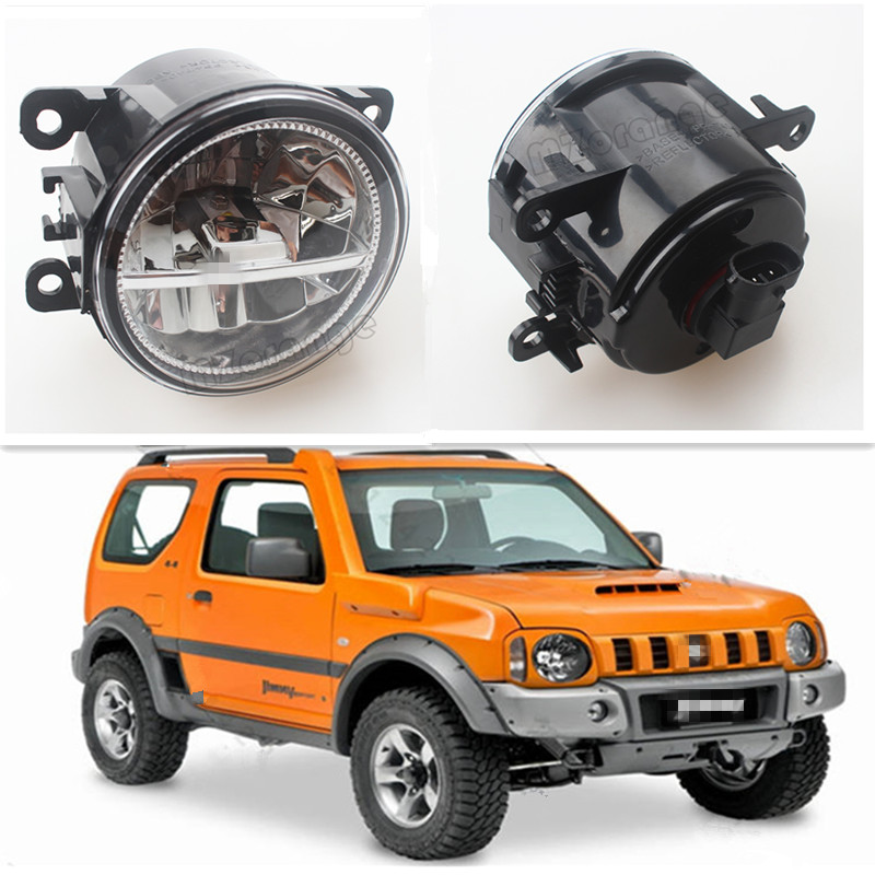 For SUZUKI JIMNY FJ Closed Off-Road Vehicle 1998-2014 Car Styling CCC E2 3000-1WK LED Fog Lamps DRL Lights 1 Set