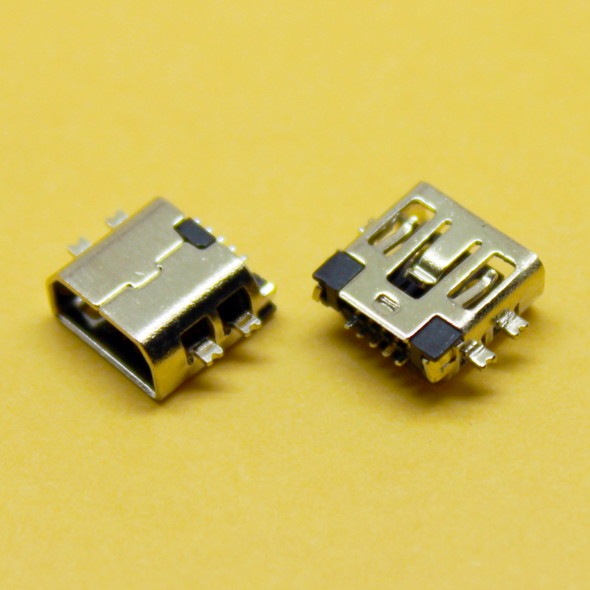 2016 Hot Mini USB connector Type B Female Port 5-Pin micro usb connector180 Degree SMD SMT PCB usb Jack imc hot 5 pcs micro usb type b female socket 180 degree smd smt jack