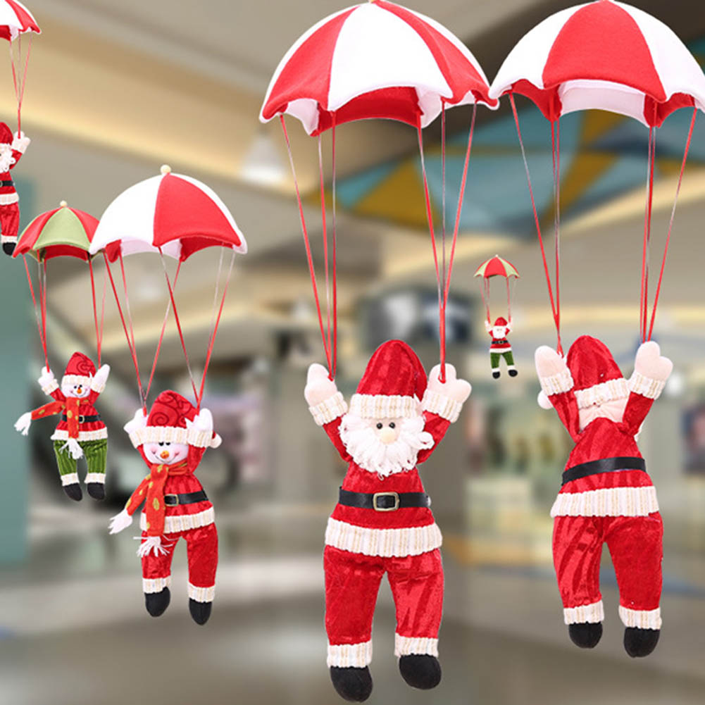 Christmas Home Ceiling Decorations Parachute 24cm Santa ...