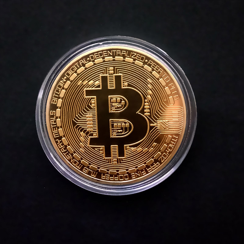 Gold Plated Bitcoin Coin Collectible Gift Casascius Bit Coin