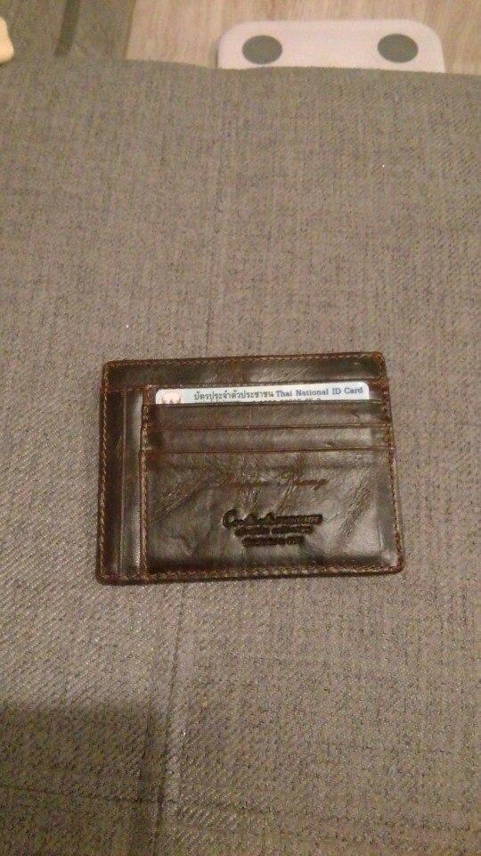 Contactpersoon 2019 Mannen Creditcardhouder Portemonnee Echt leder Vintage kaarthouder Rits Portemonnee Heren ID-kaart Portefeuilles Rfid Slim photo review