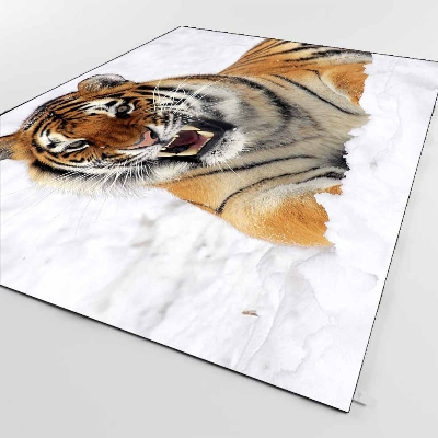 Else Brown Black White Snow Tigers Animals 3d Print Non Slip Microfiber Living Room Decorative Modern Washable Area Rug Mat