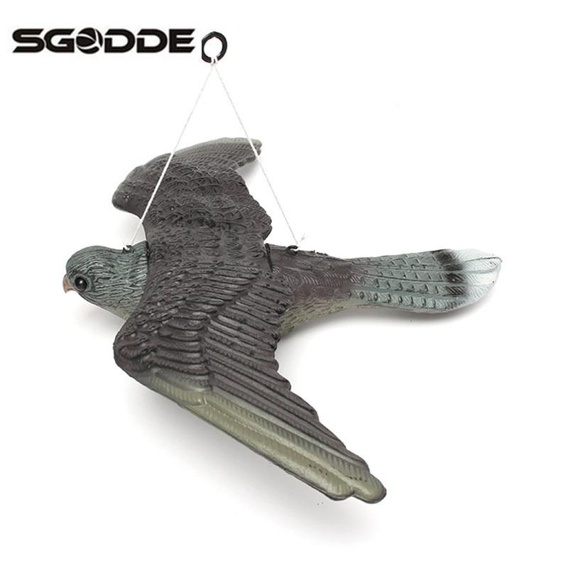 Señuelos de caza al aire libre pájaro volador halcón para señuelos de Paloma jardín planta espantadora Control de Plagas pájaro llamador buenas trampas