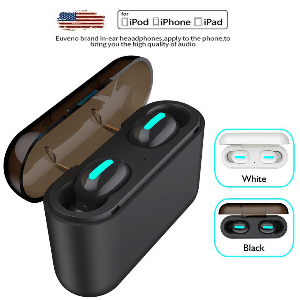 6319c29eaf8 Auriculares Bluetooth HBQ Q32 TWS 5,0 + EDR deportes Mini TWS auriculares  con cargador