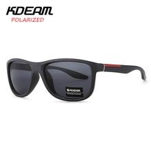 KDEAM Polarized Sunglasses Men Leisure Square Sun Glasses Women Classic Cat.3 Eyewear UV400 With Case CE KD698