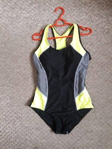 Riseado Новый 2018 Спорт Одна деталь купальник конкурентоспособные купальники Для женщин купальники купальные костюмы в мозаичном стиле