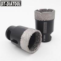 DT-DIATOOL 2 шт. 38 мм сухой вакуумной пайки алмазного сверла коронки Керамика плитка отверстие Пилы профессиональное качество бурения биты M14