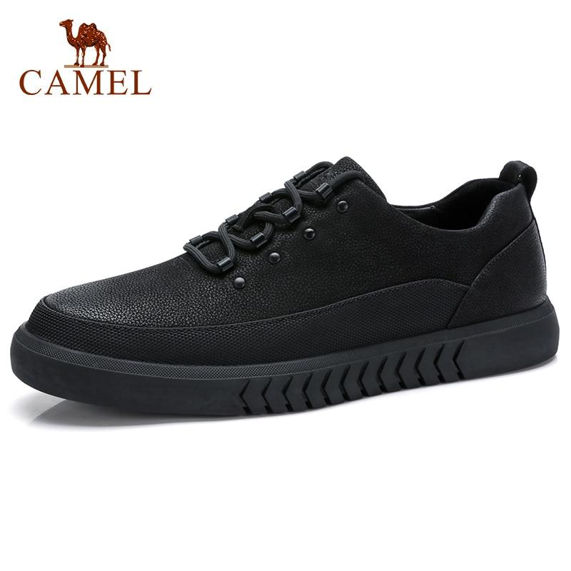 CAMEL Men s Shoes Genuine Leather Casual Shoes Korean Trend Men s British Matte Texture Man