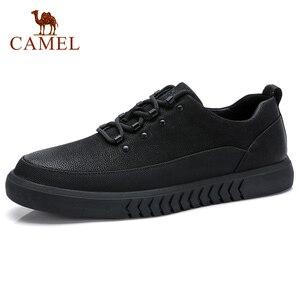 Image 1 - CAMEL Mens Shoes Genuine Leather Casual Shoes Korean Trend Mens British Matte Texture Man Fashion Shoes