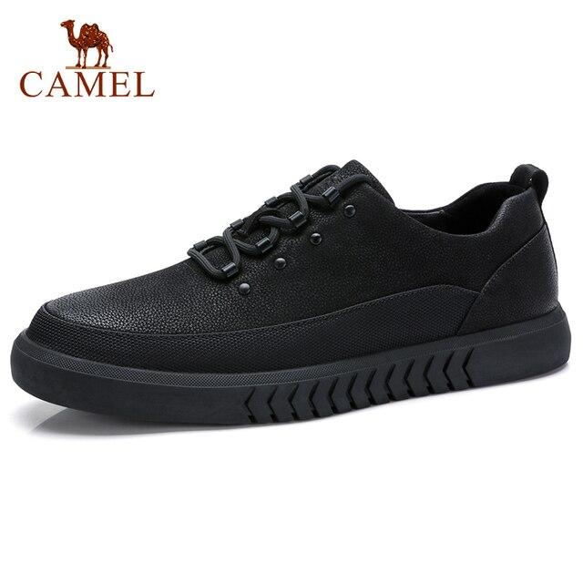 CAMEL Mens Shoes Genuine Leather Casual Shoes Korean Trend Mens British Matte Texture Man Fashion Shoes