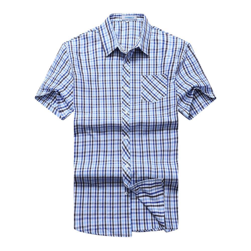 10XL 9XL 8XL 6XL 5XL 4XL Plaid Shirt Men Shirts 2018 New Summer Fashion Chemise Homme Mens Checkered Shirts Short Sleeve Shirt