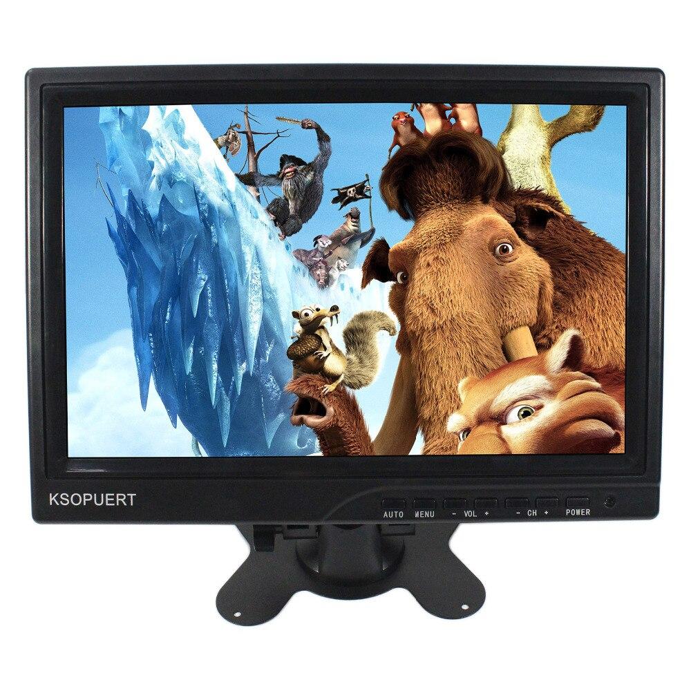 10.1 ''écran large 1280X800 IPS LED panneau Full HD 1080 P Support de moniteur HDMI pour XBox PS WiiU PS3 PS4 Console de jeu/Raspberry Pi