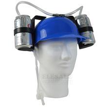 Chapeau créatif pour paresseux, chapeau de bière, casquette de casque à double support avec barre en paille douce, amusant, fête Unique, jeu de Football