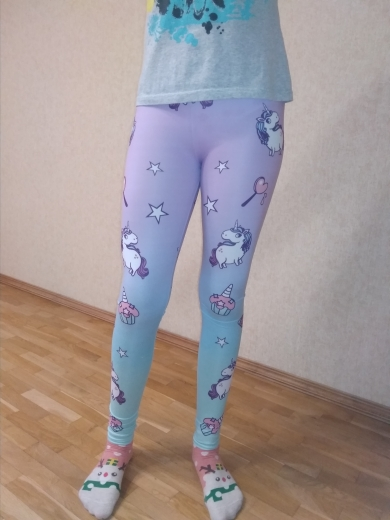 Unicorn Sweets Women Leggings photo review
