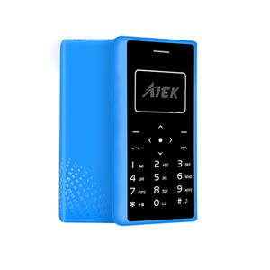 AIEK X7 Ultra Thin credit Card cell Phone Low Radiation mini pocket students personality