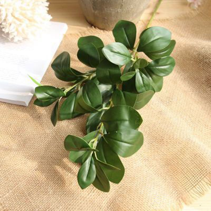 3piece Real touch simulation plants artificial milan leaves 80cm green long vine home wedding party decoration latex flower