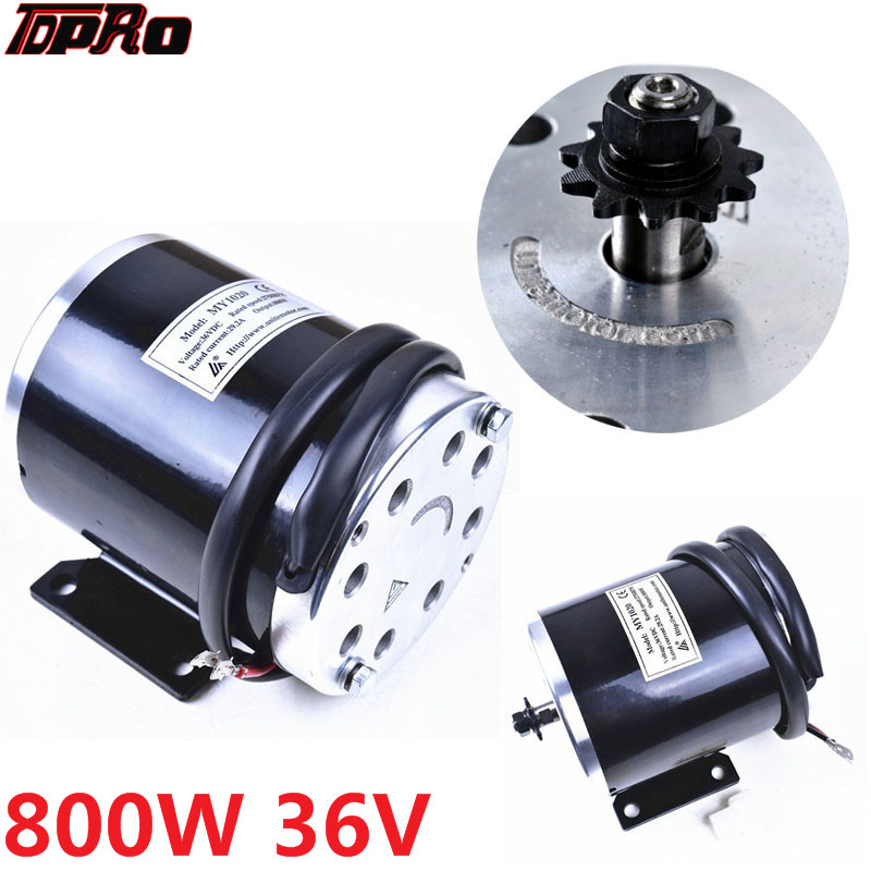 US $71 24 5% OFF TDPRO 36V 800W 11T Motorcycle Motor Starter Unite Moto  Scooter MY1020 ATV Electric Go kart QUAD Pit Bike-in Motorcycle Motor from