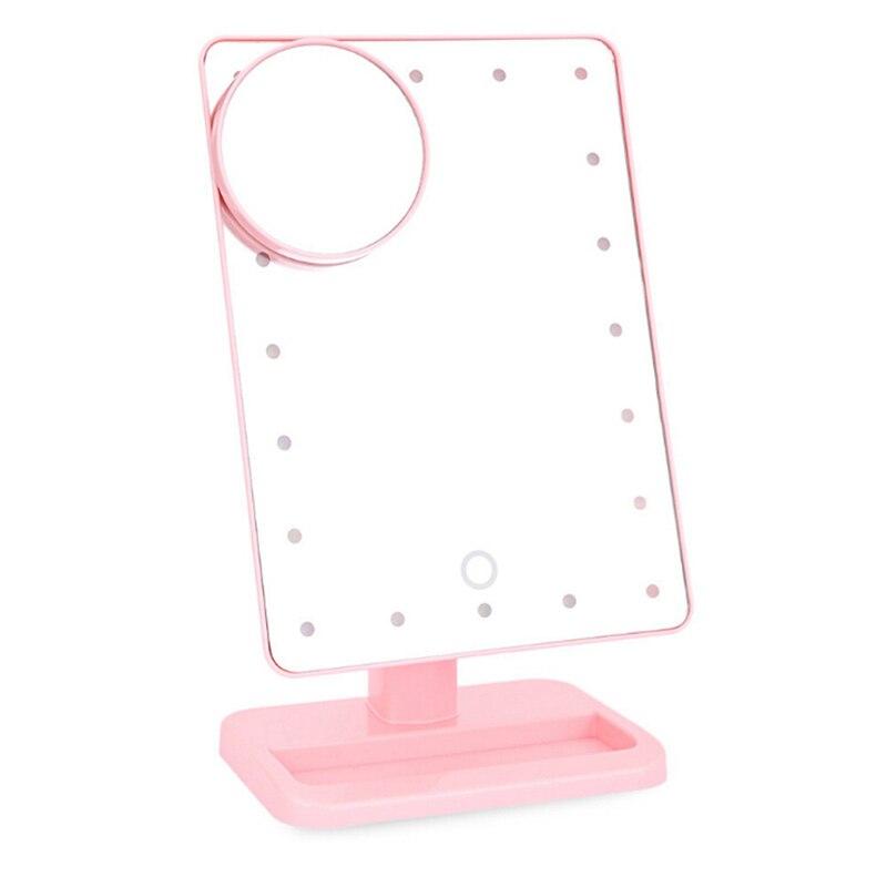 цены на Adjustable 20 LEDs Lighted Makeup Mirror Touch Screen Portable Magnifying Vanity Tabletop Lamp Cosmetic Mirror Make Up Tool в интернет-магазинах