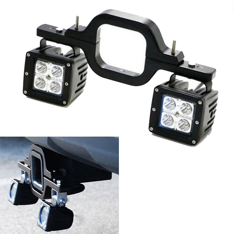 16W LED Pods w// Backup Reverse Tow Hitch Brackets For Offroad 4x4 Truck SUV
