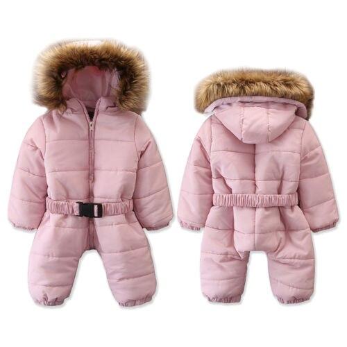 b19a6fb95 Pato caliente abajo bebé mameluco de invierno traje de algodón grueso ropa  de escalada de general para chico chica de invierno de los niños mono traje  de ...