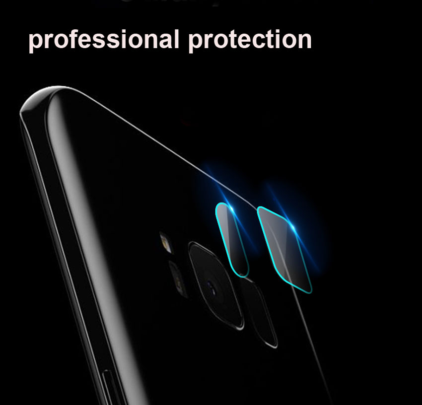 9H Tempered Glass Film Clear Back Camera Lens Flash Protector Guard Cover for Samsung Galaxy Note8 S8 S8Plus S6 S7 Edge Note4 5