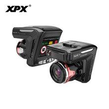 Регистратор XPX G565-STR Автомобильный dvr 3 в 1 gps Радар видеорегистратор Автомобильный видеорегистратор Автомобильная камера Full HD 1296 P G-srnsor видео рекордер с антирадаром
