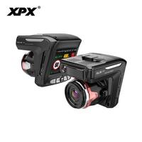 Dash cam XPX G565 STR Car dvr 3 in 1 GPS Radar Dvr Car DVR Car camera Full HD 1296P G srnsor Video recorder with antiradar